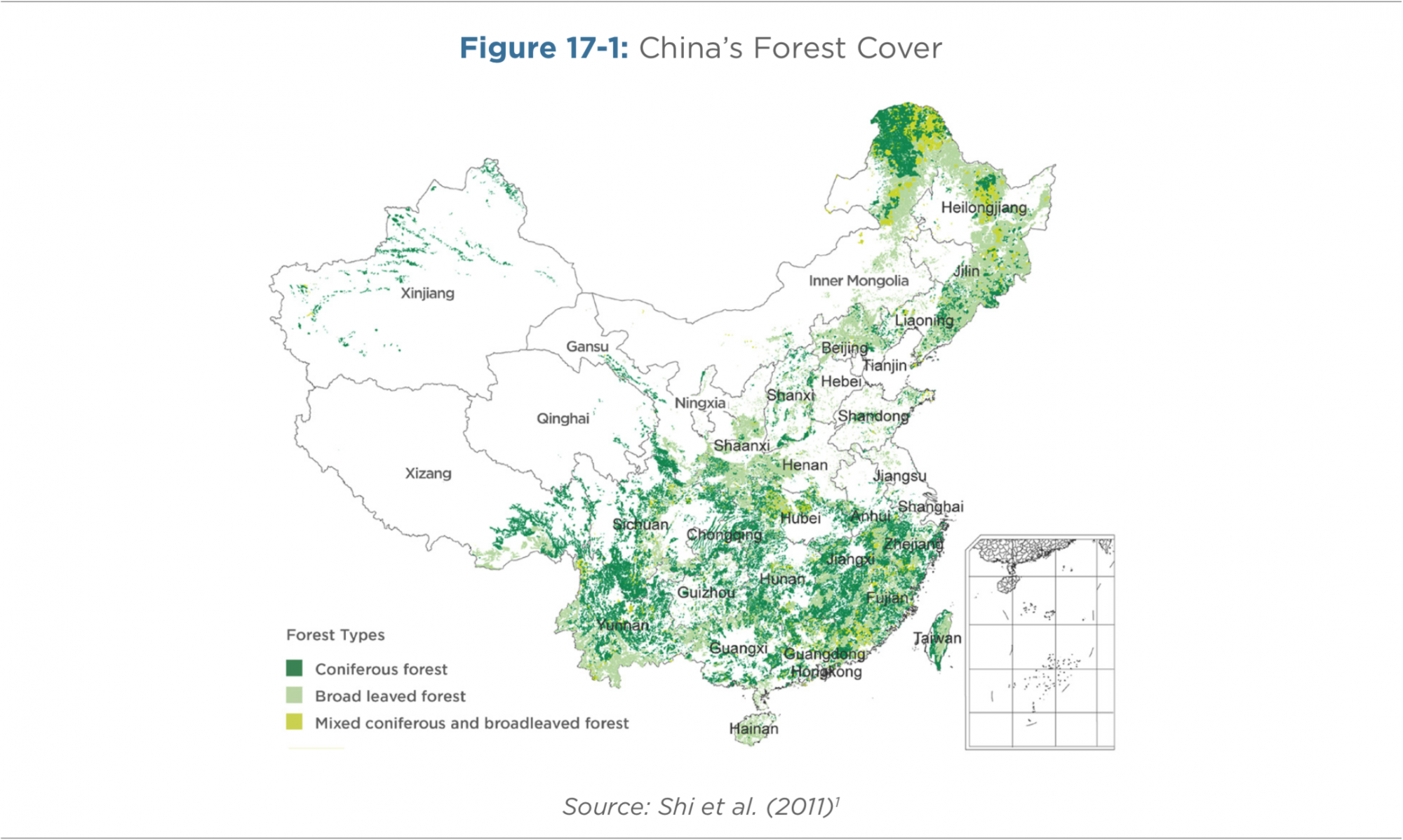 Figure 17-1: China's Forest Cover