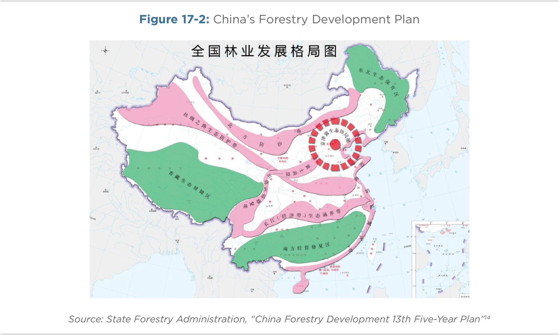 Figure 17-2: China's Forestry Development Plan