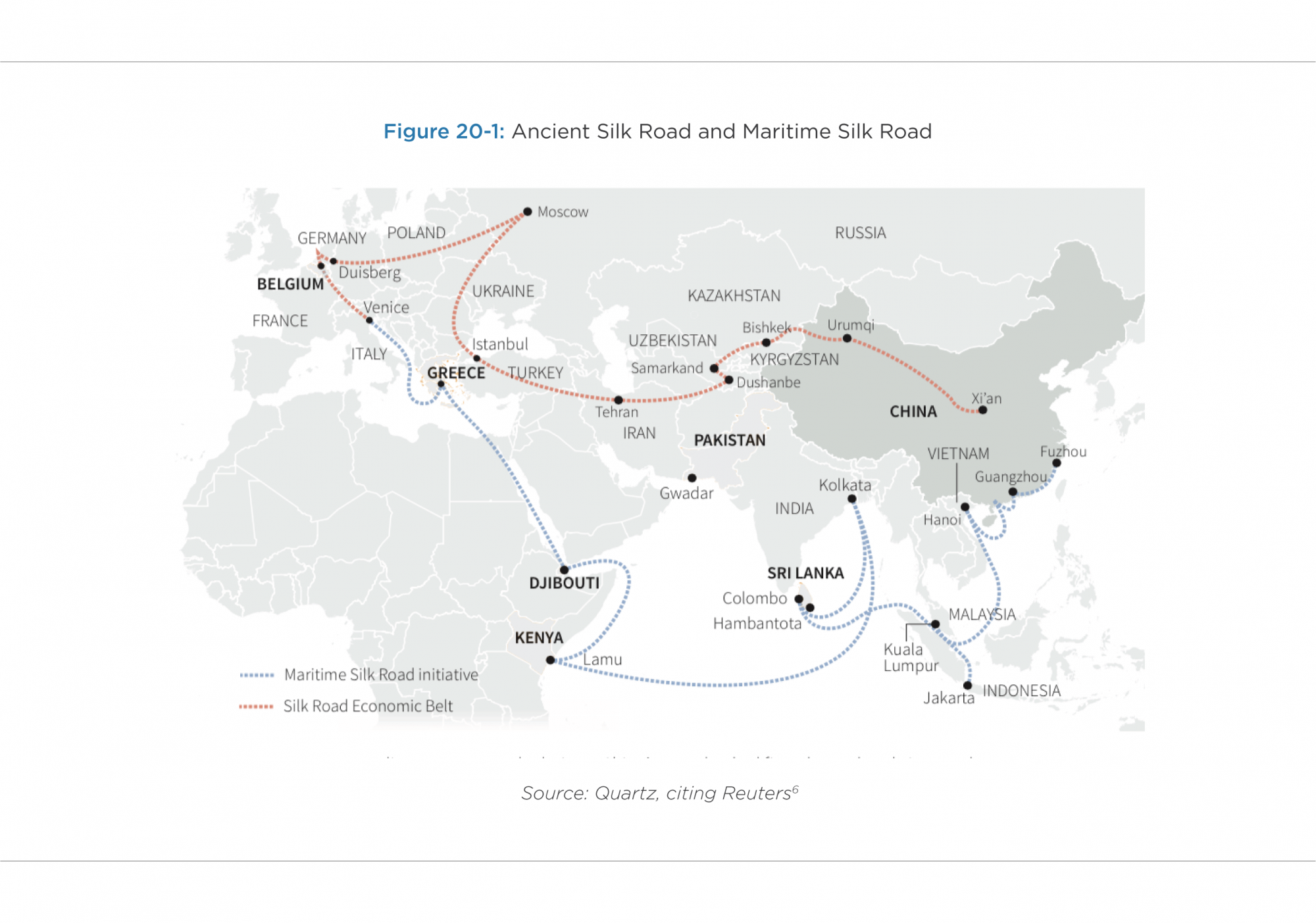 "[1] For background on the Belt and Road Initiative, see the Chinese government's Belt and Road Portal; State Council, Action plan on the Belt and Road Initiative (March 30, 2015); Yuen Yuen Ang, ""Demystifying Belt and Road,"" Foreign Affairs (May 22, 2019); Nadège Rolland, A Concise Guide to the Belt and Road Initiative, National Bureau of Asian Research (April 11, 2019); Andrew Chatzky and James McBride, ""China's Massive Belt and Road Initiative,"" Council on Foreign Relations (May 21, 2019); David Sandalow"